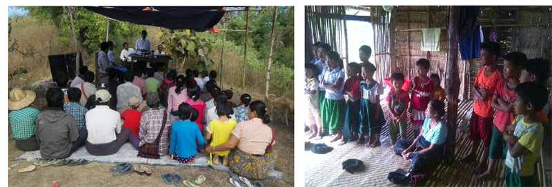 Learn more about gospel meetings and Sunday School programs at South East Asia Bible College in Myanmar.